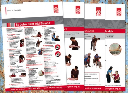 st john first aid posters