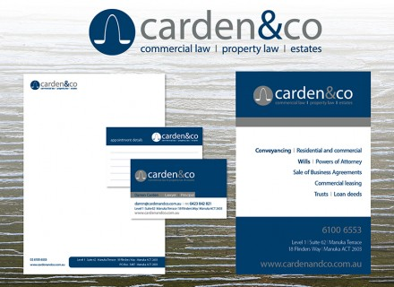 Carden & Co business stationery